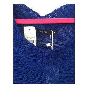 LF Dresses - LF Millau Royal Blue Knit Dress